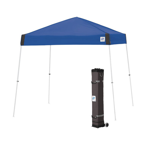 E-Z Up VS3WH10RB Vista Instant Shelter 10' x 10' Royal Blue Canopy with White Frame Main Image 1