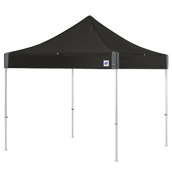 E-Z Up ENDA10KBK Endeavor Instant Shelter 10' x 10' Black Canopy with Clear Aluminum Frame Main Image 1