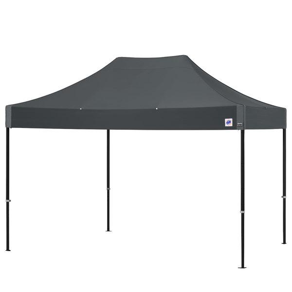 E-Z Up END3ABK15KSG Endeavor Instant Shelter 10' x 15' Steel Gray Canopy with Matte Black Frame Main Image 1