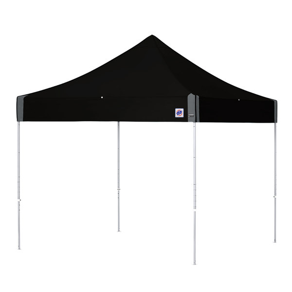 E-Z Up EP3STL10KFWHTBK Enterprise Instant Shelter 10' x 10' Black Canopy with White Frame Main Image 1