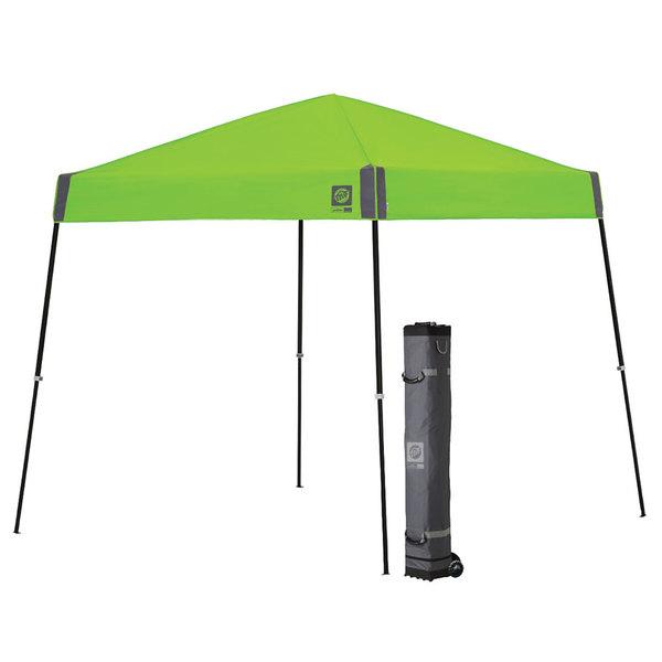 E-Z Up SPT3SBKF10KW Sprint Instant Shelter 10' x 10' Kiwi Canopy with Black Frame Main Image 1