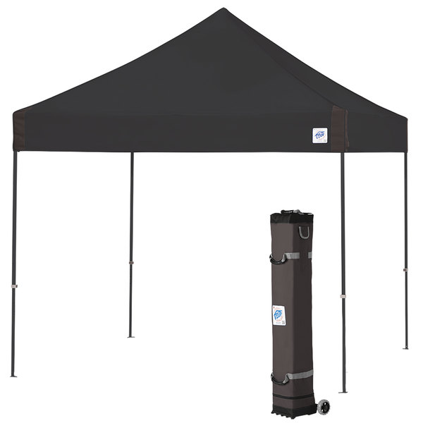 uk availability 2c35c 6aebc E-Z Up VG3SG10BK Vantage Instant Shelter 10' x 10' Black Canopy with Steel  Gray Frame