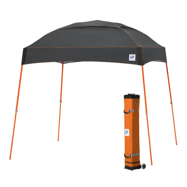 E-Z Up DM3SO10SG Dome 10' x 10' Steel Gray Canopy with Steel Orange Frame and Roller Bag Main Image 1