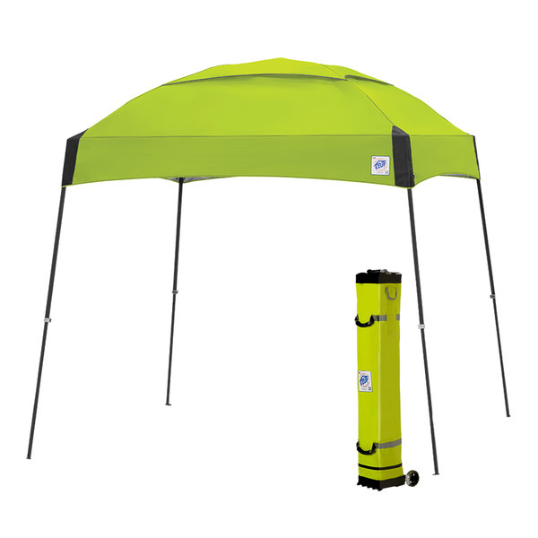 E-Z Up DM3SG10LA Dome 10' x 10' Limeade Canopy with Steel Gray Frame and Roller Bag Main Image 1
