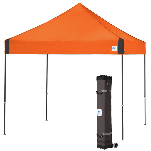 timeless design 72c18 c95bb E-Z Up VG3SG10SO Vantage Instant Shelter 10' x 10' Steel Orange Canopy with  Steel Gray Frame