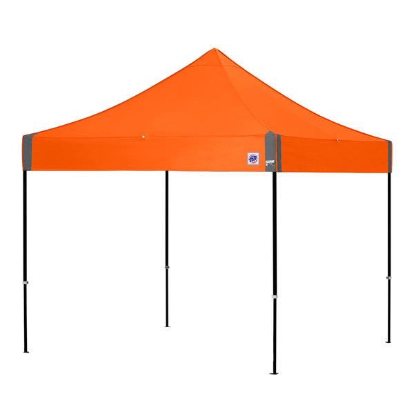 E-Z Up EC3STL10KFBKTSO Eclipse Instant Shelter 10' x 10' Steel Orange  Canopy with Black Frame