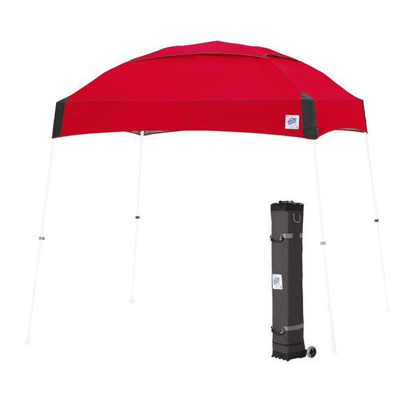 E-Z Up DM3WH10PN Dome 10' x 10' Punch Canopy with White Frame and Roller Bag Main Image 1