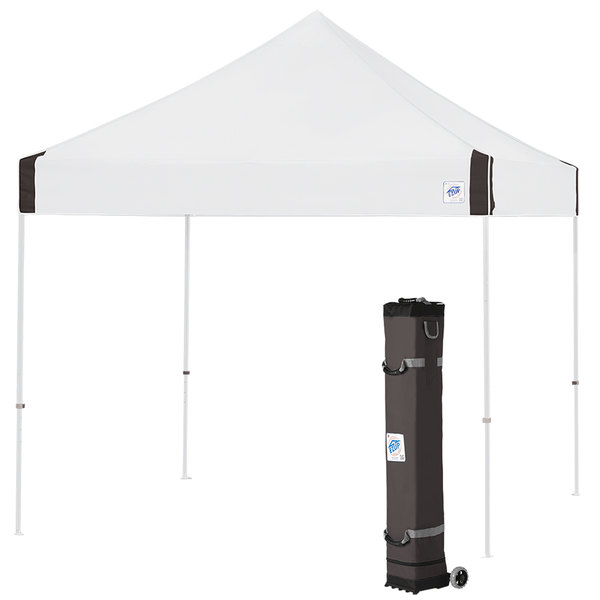 E-Z Up VG3WH10WH Vantage Instant Shelter 10' x 10' White Canopy with White Frame Main Image 1