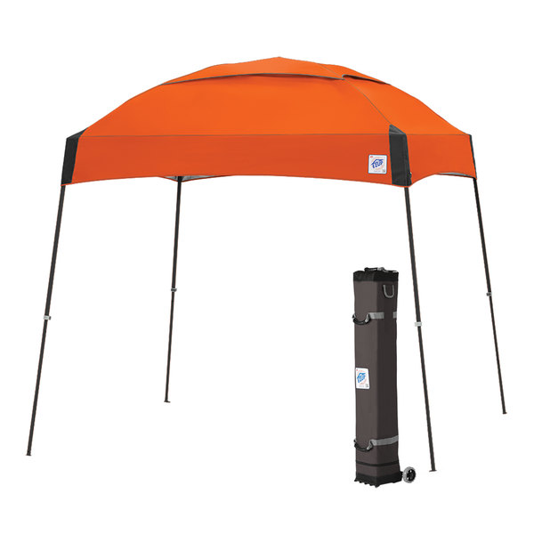 E-Z Up DM3SG10SO Dome 10' x 10' Steel Orange Canopy with Steel Gray Frame and Roller Bag Main Image 1