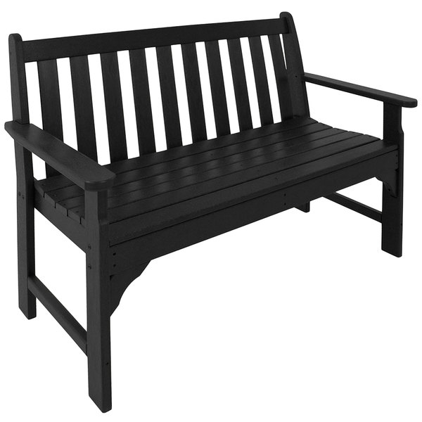 Fine Polywood Gnb48Bl Black 48 1 2 X 24 Vineyard Bench Gmtry Best Dining Table And Chair Ideas Images Gmtryco