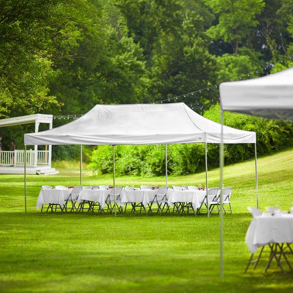 Backyard Pro Courtyard Series 10' x 20' White Straight Leg Aluminum Instant Canopy Main Image 6