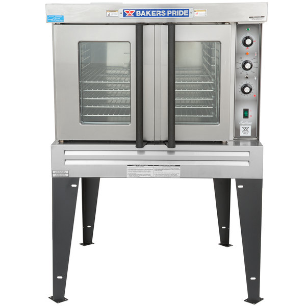 Bakers Pride BCO-G1 Cyclone Series Natural Gas Single Deck Full Size Convection Oven with Legs - 60,000 BTU Main Image 1