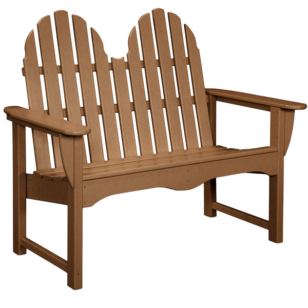 Fantastic Polywood Adbn 1Te Teak 48 1 2 X 28 Classic Adirondack Bench Machost Co Dining Chair Design Ideas Machostcouk