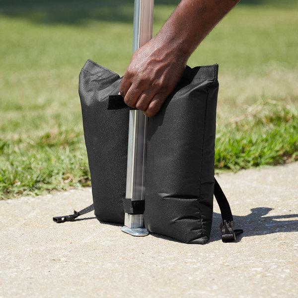 Backyard Pro Courtyard Series Black 25 lb. Weight Bag - 4/Set Main Image 4