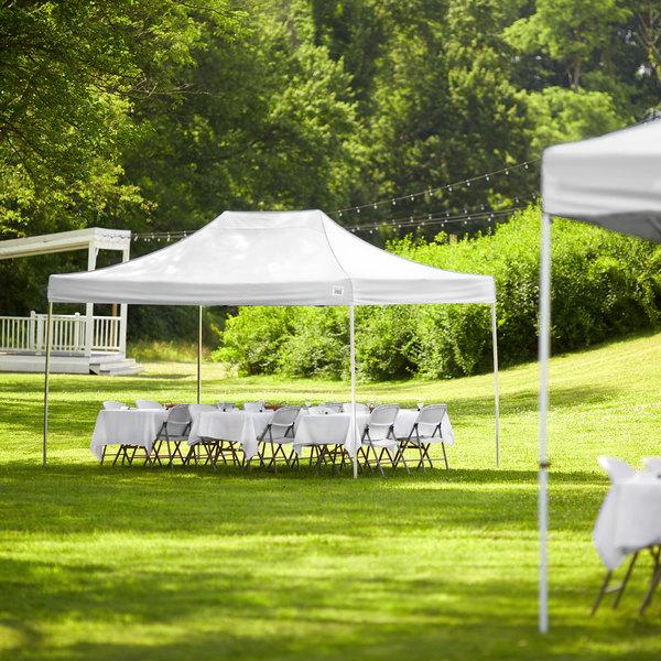 Backyard Pro Courtyard Series 10' x 15' White Straight Leg Aluminum Instant Canopy Main Image 6