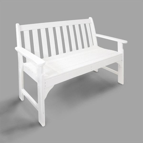 "POLYWOOD GNB48WH White 48 1/2"" x 24"" Vineyard Bench Main Image 1"