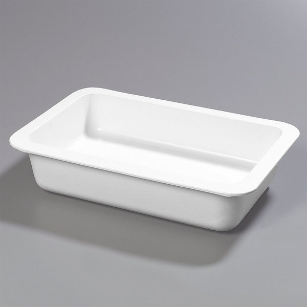 "Carlisle CM104002 Coldmaster Full Size White Cold Food Pan Holder - 4"" Deep"