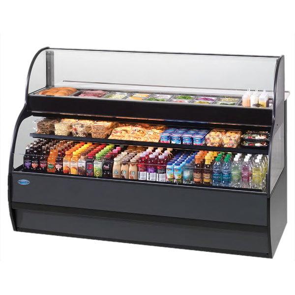 "Federal SSRSP-5052 50"" Combination Sandwich / Salad Prep Refrigerator Over Refrigerated Self-Serve Merchandiser Main Image 1"
