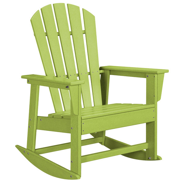 Tremendous Polywood Sbr16Li Lime South Beach Rocking Chair Ocoug Best Dining Table And Chair Ideas Images Ocougorg