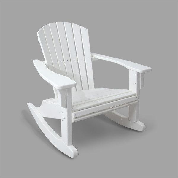 POLYWOOD SHR22WH White Seashell Rocking Chair