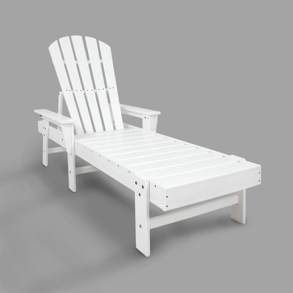 Remarkable Polywood Sbc76Wh White South Beach Chaise Short Links Chair Design For Home Short Linksinfo