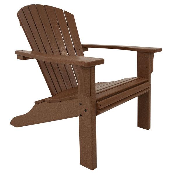 POLYWOOD SH22TE Teak Seashell Adirondack Chair Main Image 1