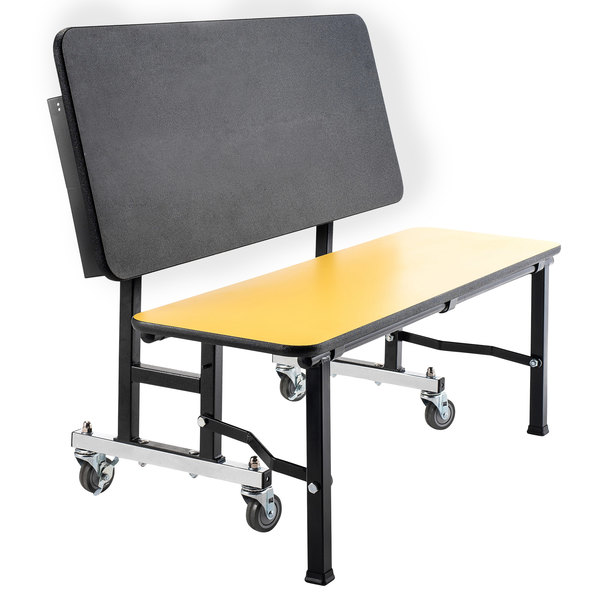 """National Public Seating TGB48PBTM ToGo Mobile 48"""" Bench with Particleboard Core and T-Molding Edge Main Image 1"""