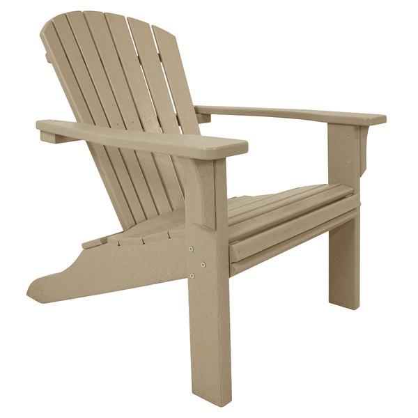 POLYWOOD SH22SA Sand Seashell Adirondack Chair Main Image 1