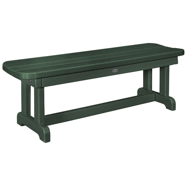 Super Polywood Pbb48Gr Green 48 X 14 1 2 Backless Park Bench Gamerscity Chair Design For Home Gamerscityorg