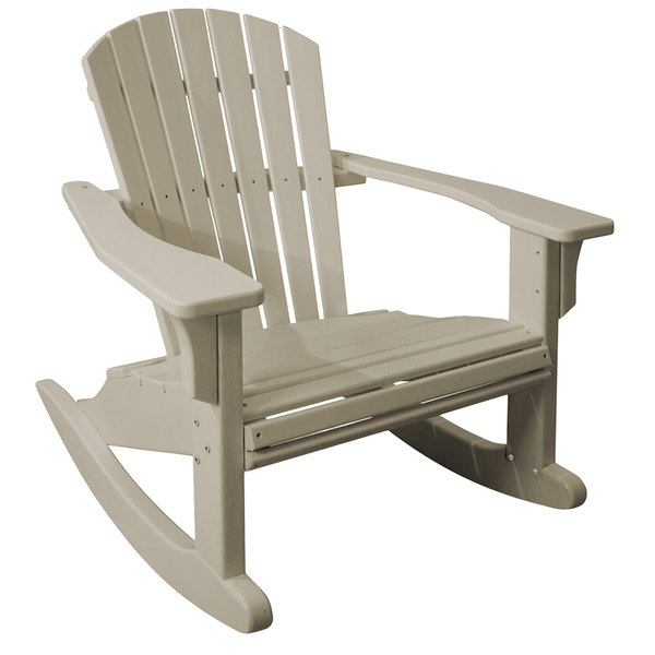 Outstanding Polywood Shr22Sa Sand Seashell Rocking Chair Ibusinesslaw Wood Chair Design Ideas Ibusinesslaworg