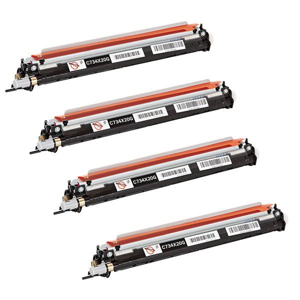 Lexmark OEM Lexmark C734 OEM Photoconductor Kit 4-pack C734X24G