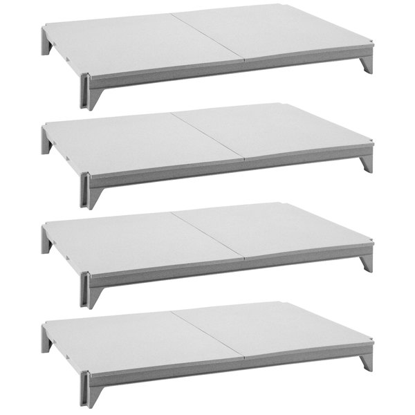 """Cambro CPSK1824S4480 Camshelving® Premium Series Stationary Shelf Kit with 4 Solid Shelves - 24"""" x 18"""" Main Image 1"""