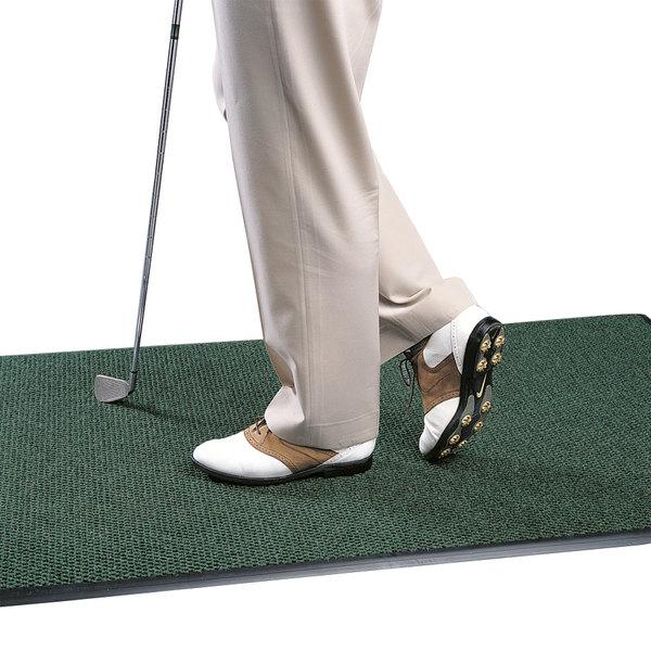 "Cactus Mat 1082M-G46 Pinnacle 4' x 6' Sea Green Upscale Anti-Fatigue Berber Carpet Mat - 1"" Thick"