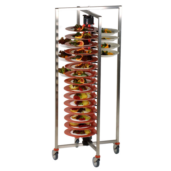 """Plate Mate PM60-145 Collapsible / Folding Mobile Plate Rack Holds 60 Plates 58 1/4""""H Main Image 1"""