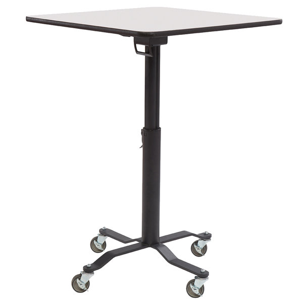 """National Public Seating CTTW36SMDPEWB Cafe Time II 36"""" Square Mobile Table with Whiteboard Top, MDF Core, and ProtectEdge"""