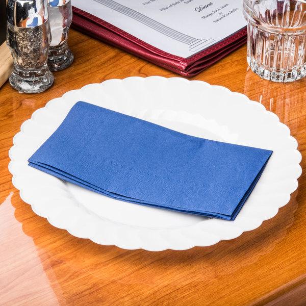 "Hoffmaster 180522 Navy Blue 15"" x 17"" 2-Ply Paper Dinner Napkin - 1000/Case Main Image 7"