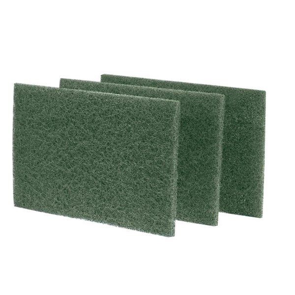 """Royal Paper S960 9"""" x 6"""" Dark Green Scouring Pad - 10/Pack"""