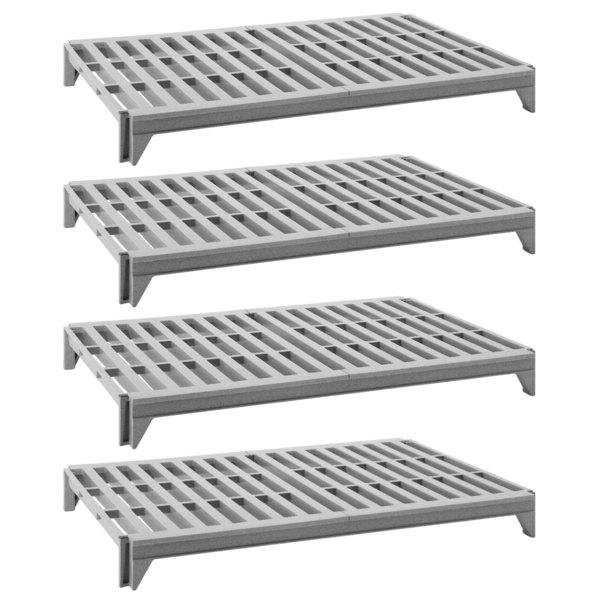 "Cambro CPSK2460V4480 Camshelving® Premium Series Stationary Shelf Kit with 4 Vented Shelves - 60"" x 24"" Main Image 1"