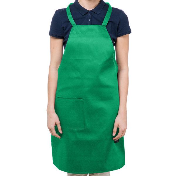 1b8923a566a Chef Revival Customizable Full-Length Kelly Green Bib Apron - 34