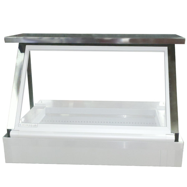 """Beverage-Air 00C23-094D Stainless Steel Single Overshelf with Side Guards - 48"""" x 14"""" Main Image 1"""