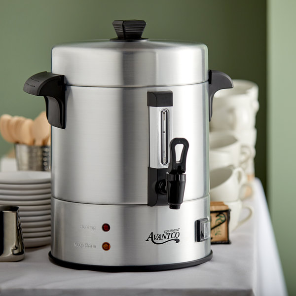 Avantco 55 Cup Aluminum Coffee Urn - 120V, 1500W Main Image 4