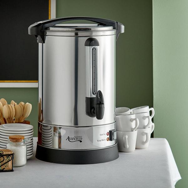 Avantco CU105SS 105 Cup (525oz) Double Wall Stainless Steel Coffee Urn/Coffee Percolator - 1500W Main Image 4