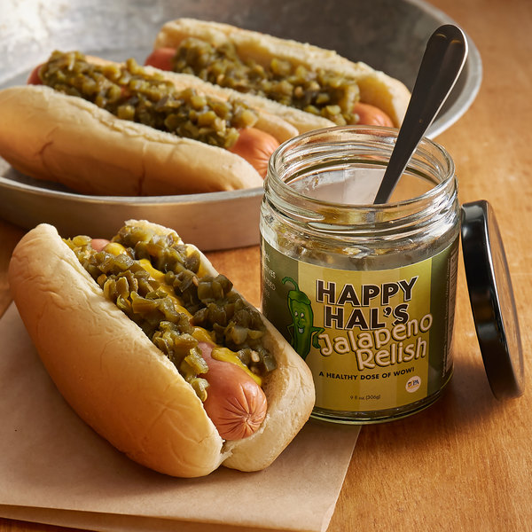 Cortazzo 9 oz. Jar Happy Hal's Gourmet Jalapeno Relish