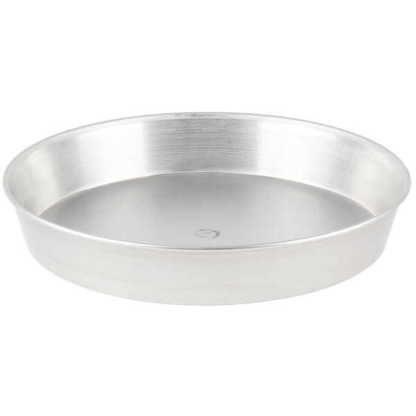 "American Metalcraft T90092 9"" x 2"" Tin-Plated Steel Pizza Pan"