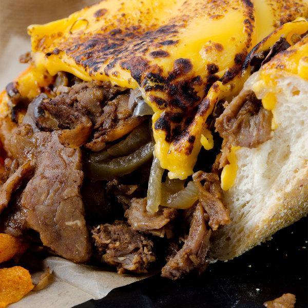 Devault Foods 3 lb. Bulk Philadelphia-Style Pre-Cooked Steak - 3/Case