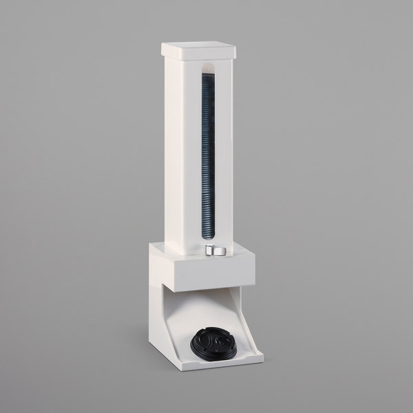Cal-Mil 4117-15 White Single Lid Click Dispenser Main Image 1