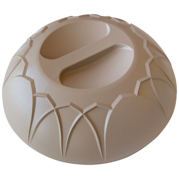 """Dinex DX540031 Fenwick Latte Insulated Meal Delivery Dome for 9"""" Plate - 12/Case Main Image 1"""