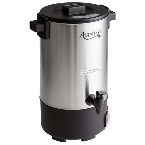One Button Control Stainless Steel 30 Litre Catering Hot Water Boiler Tea Urn