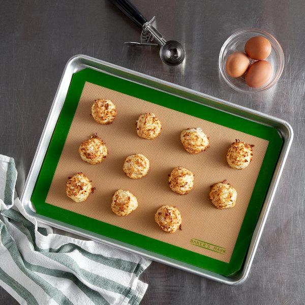 "Baker's Mark 11 3/4"" x 16 1/2"" Half Size Heavy Duty Silicone Non-Stick Baking Mat Main Image 2"