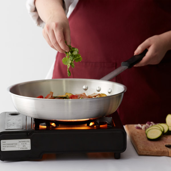 """Choice 12"""" Aluminum Fry Pan with Silicone Grip"""